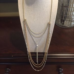 Lucky Brand Tri-Color Layer Necklace